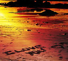 Love On The Beach (color version) by Scott Ruhs