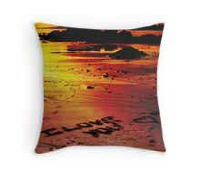 Love On The Beach (color version) Throw Pillow