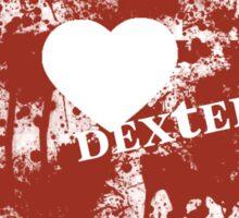 Dexter - love blood splatter Sticker