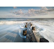 Folly Beach Charleston South Carolina Timber Erosion Control Structure Photographic Print