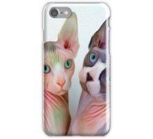 Sphynx Cat Oil Painting Buddies iPhone Case/Skin