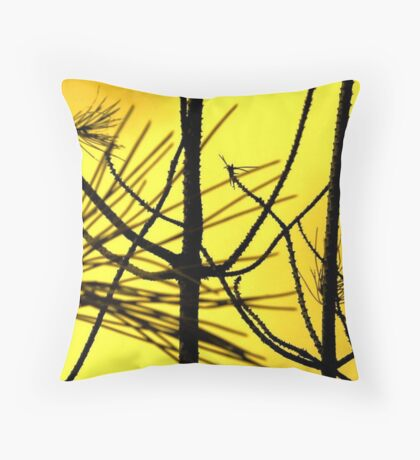 Bare branches Throw Pillow