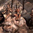 Hindu Gods - Bhatu Caves, Malaysia by Stephen Permezel