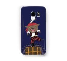 Pirate Happy Dance with Parrot Samsung Galaxy Case/Skin