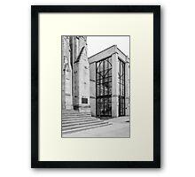Old vs. New - First Presbyterian Church Framed Print