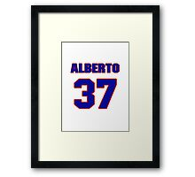 National baseball player Alberto Castillo jersey 37 Framed Print