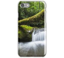 Great Smoky Mountain Roaring Fork Fallen Log Cascade iPhone Case/Skin