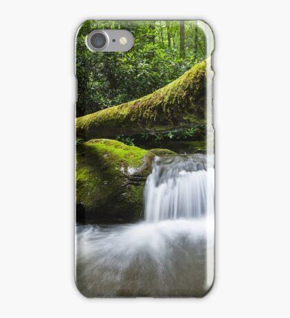 Great Smoky Mountain Roaring Fork Fallen Log Cascade iPhone Case/Skin