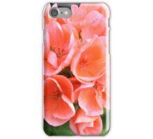 Peach Geraniums iPhone Case/Skin