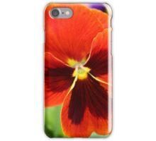 Orange Pansy iPhone Case/Skin