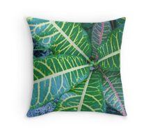 Caribbean Plant Throw Pillow