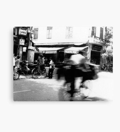 Cyclists, Hanoi Canvas Print