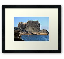 888A-Big Rock Framed Print