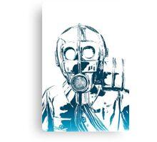 Gas Mask Anthem Canvas Print