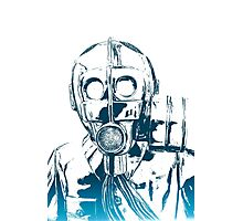 Gas Mask Anthem Photographic Print