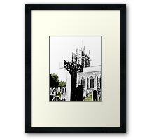 Cross and Tower Framed Print