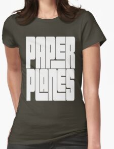 Paper Planes [White Ink]   OG Collection Womens Fitted T-Shirt