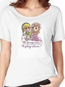 It's dangerous to play alone Women's Relaxed Fit T-Shirt