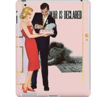 WAR IS DECLARED iPad Case/Skin