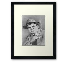 Smoking Man Framed Print