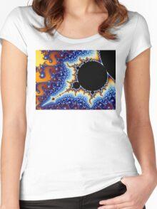 Mandelbrot Set Fractal Women's Fitted Scoop T-Shirt