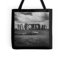 Stonehenge and Storm Clouds Tote Bag