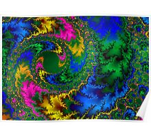 Colored Leaf Swirl Poster