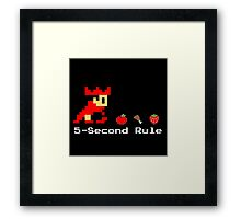 5-Second Rule Framed Print