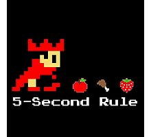 5-Second Rule Photographic Print