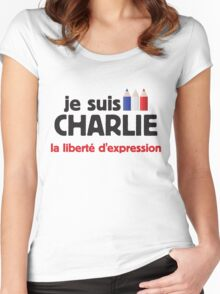 je suis Charlie Women's Fitted Scoop T-Shirt
