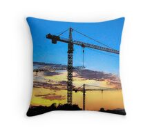 Cranes against the sky Throw Pillow