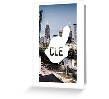 CLE Skyline Chief Wahoo Greeting Card