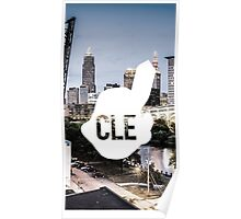 CLE Skyline Chief Wahoo Poster