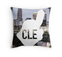 CLE Skyline Chief Wahoo Throw Pillow