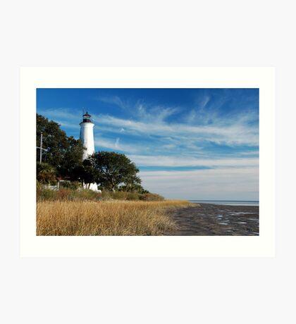 St Marks Lighthouse, near Tallahassee, Florida Art Print