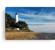 St Marks Lighthouse, near Tallahassee, Florida Canvas Print