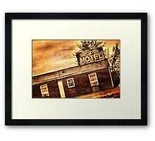 Scott's Motel Framed Print