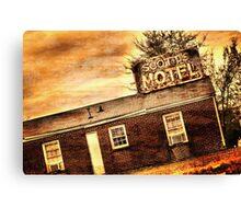 Scott's Motel Canvas Print