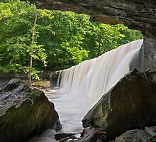 Below Indiana's Anderson Falls by Kenneth Keifer