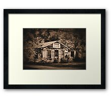 Hazel's cafe Framed Print