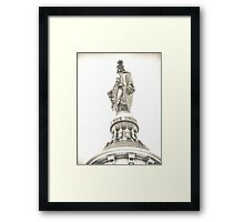 statue of freedom Framed Print
