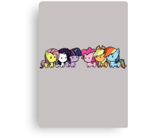 Pony Group Canvas Print