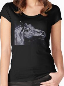 Fury - Beautiful Horse Head Women's Fitted Scoop T-Shirt