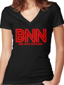 Bad News Network Women's Fitted V-Neck T-Shirt