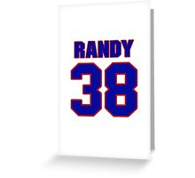 National baseball player Randy Schwartz jersey 38 Greeting Card