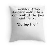 Tap Dancers Throw Pillow