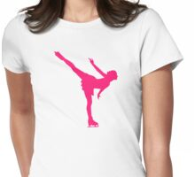 Figure skating woman Womens Fitted T-Shirt