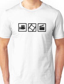 Film movie reel clapper camera Unisex T-Shirt