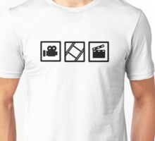 Film movie reel clapper camera Unisex T-Shirt