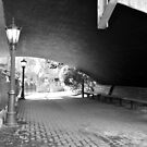 benches under the bridge by A.R. Williams